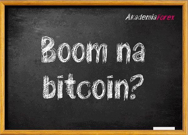 Boom na bitcoin