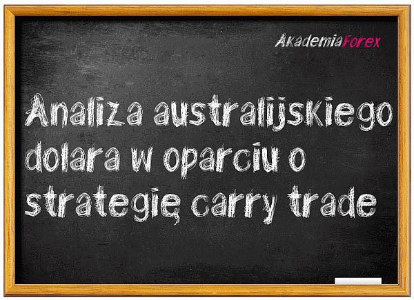 analiza australijskiego dolara w oparciu o strategię carry trade
