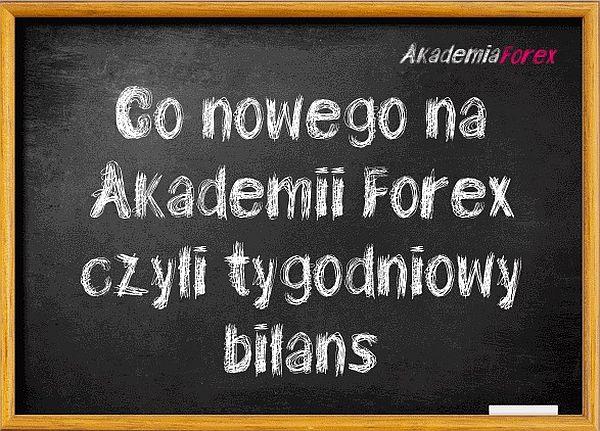Akademia Forex bilans tygodniowy